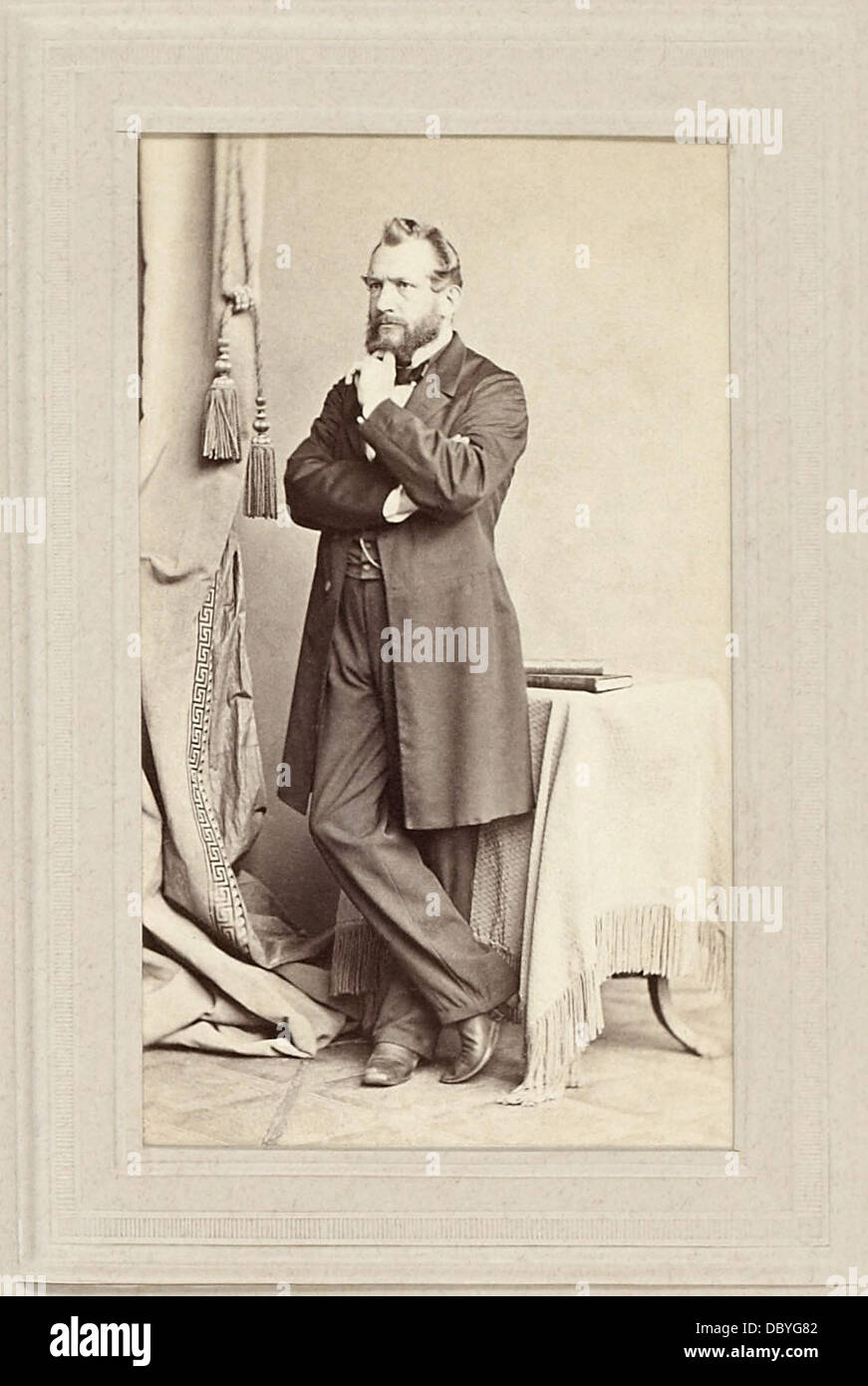 Emil du Bois-Reymond (1818-1896). German physician and physiologist, the discoverer of nerve action potential, and - Stock Image