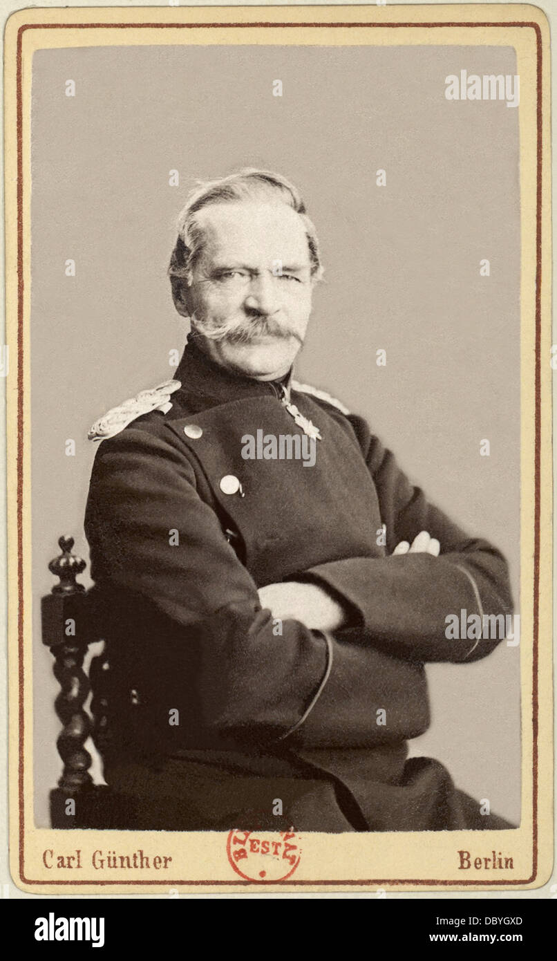 Albrecht, count von Roon, (1803-1879), Generalfeldmarschall, prussian minister of War between 1859 & 1873, modernizer - Stock Image