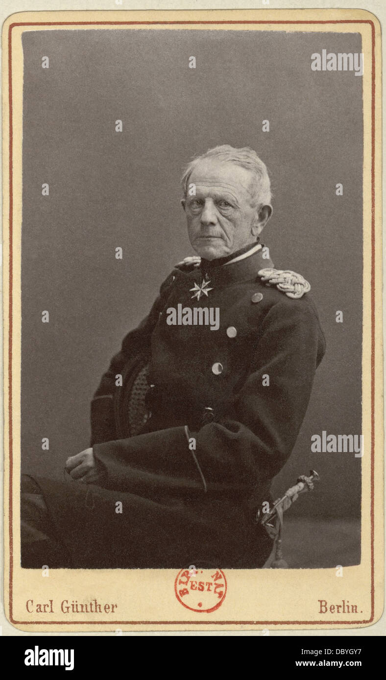 Helmuth Karl Bernhard von Moltke (1800-1891). He was the chief of the Prussian General Staff during 30 years, won - Stock Image