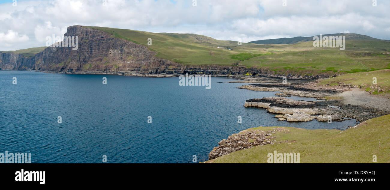 Ramasaig Cliff and Ramasaig Bay, Duirinish coast, Isle of Skye, Scotland, UK Stock Photo