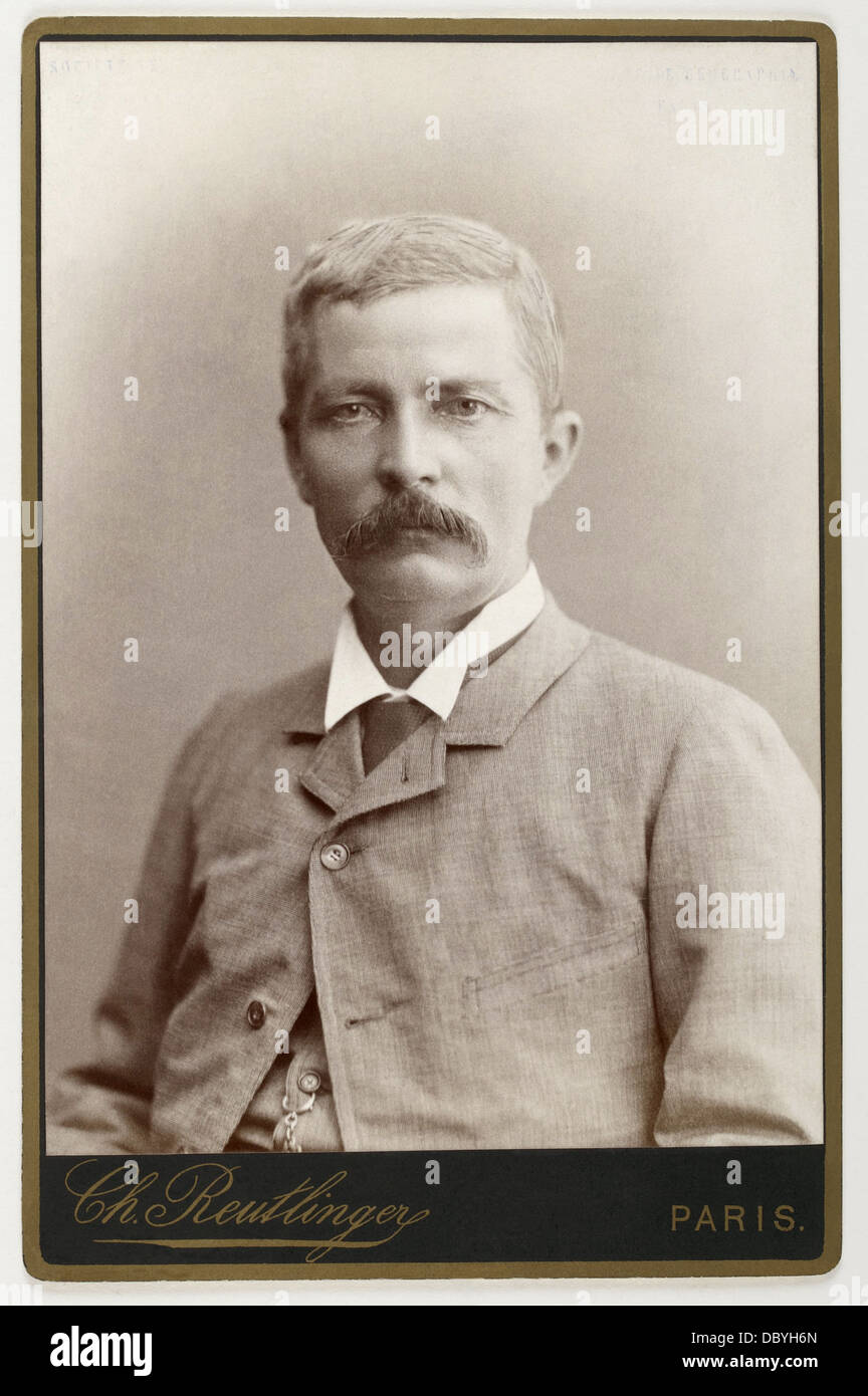 Henry Morton Stanley (1841-1904), welsh explorer of Central Africa. - Stock Image