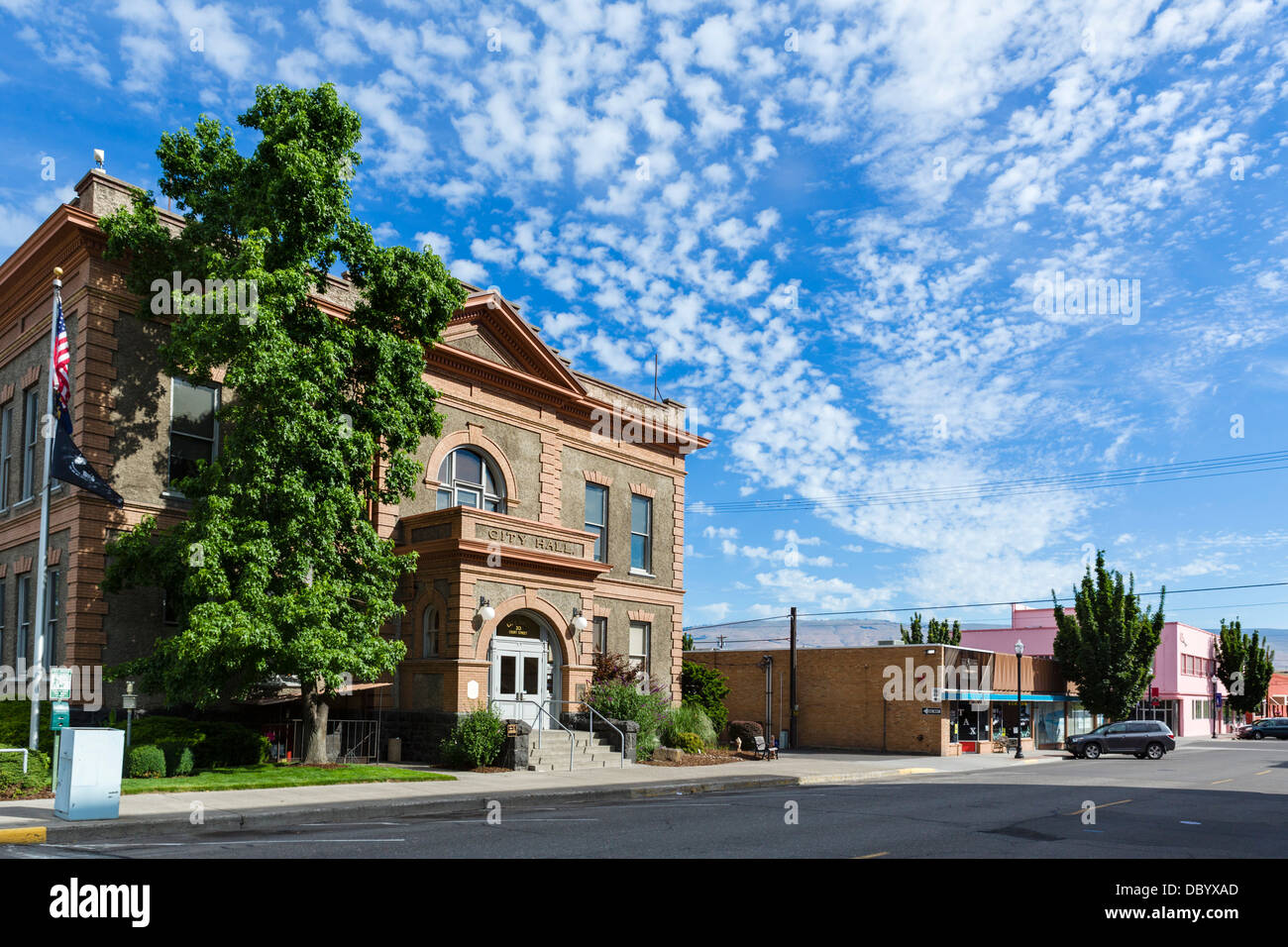 City Hall in downtown The Dalles, Oregon, USA - Stock Image