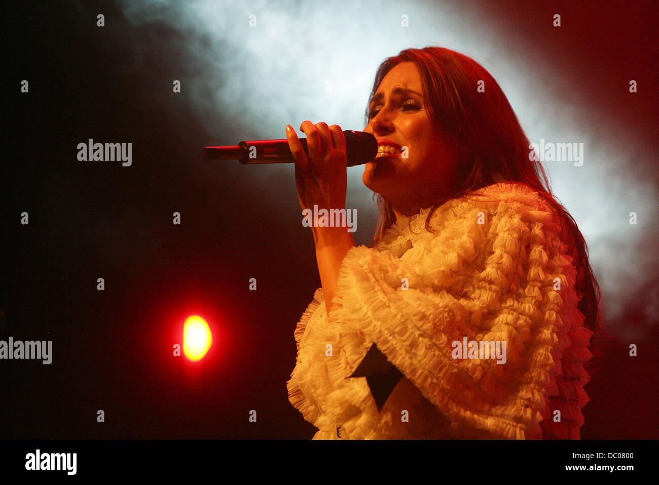 Sharon Den Adel of dutch band, Within Temptation performing at  Filmfestival. Utrecht, Holland