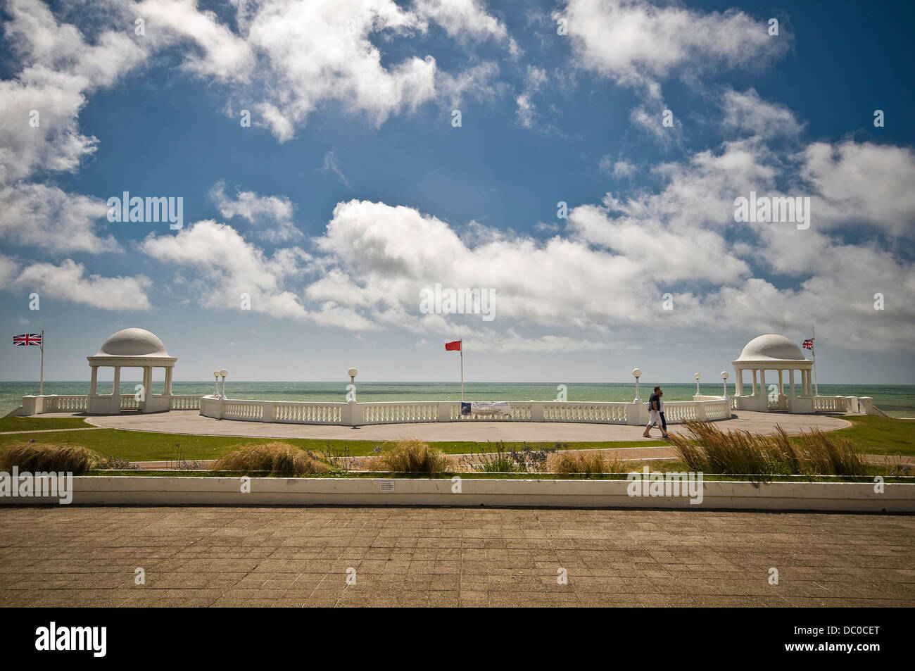 Bexhill seafront twin cupolas, East Sussex, UK - Stock Image