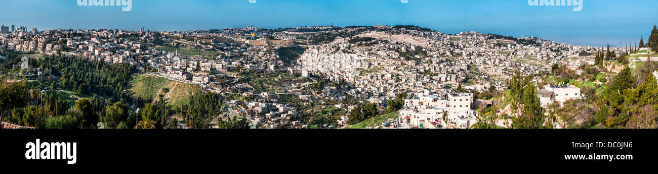 The Temple Mount, also know as Mount Moriah in Jerusalem, Israel. It is located in the Old City in Jerusalem and - Stock Image