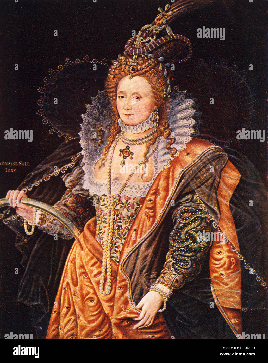 Tudor Style House Pictures 1500s 1600s Color Portrait Queen Elizabeth I From Painting