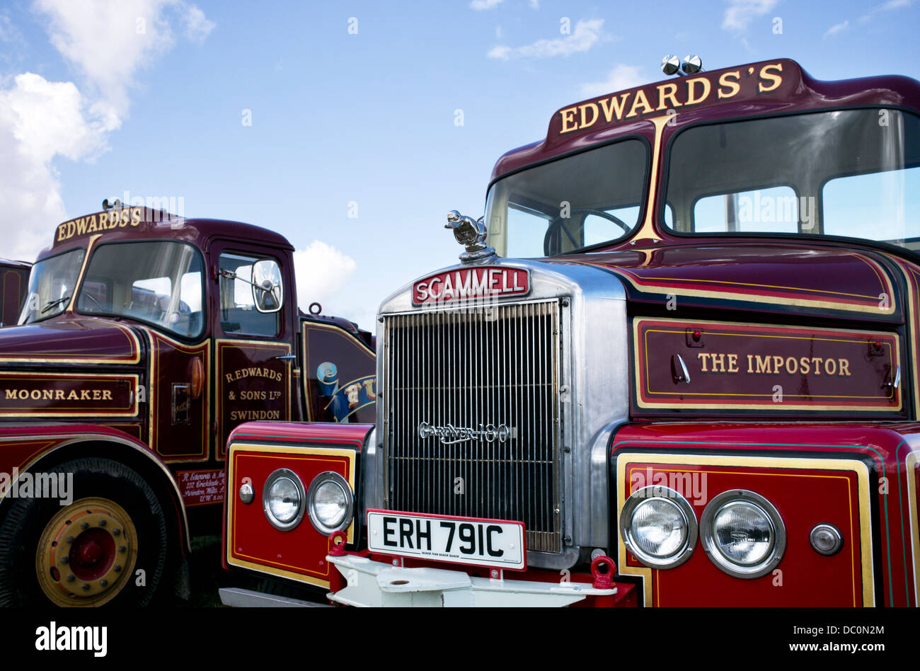 1965 Scammell Highwayman. The Imposter. Scammell Showmans Ballast tractor Stock Photo