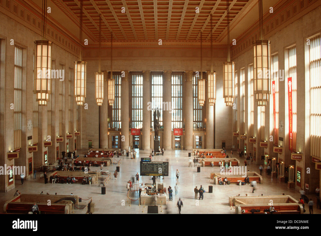 Art Deco Interior.Art Deco Interior Of 30th Street Train Station Philadelphia Stock