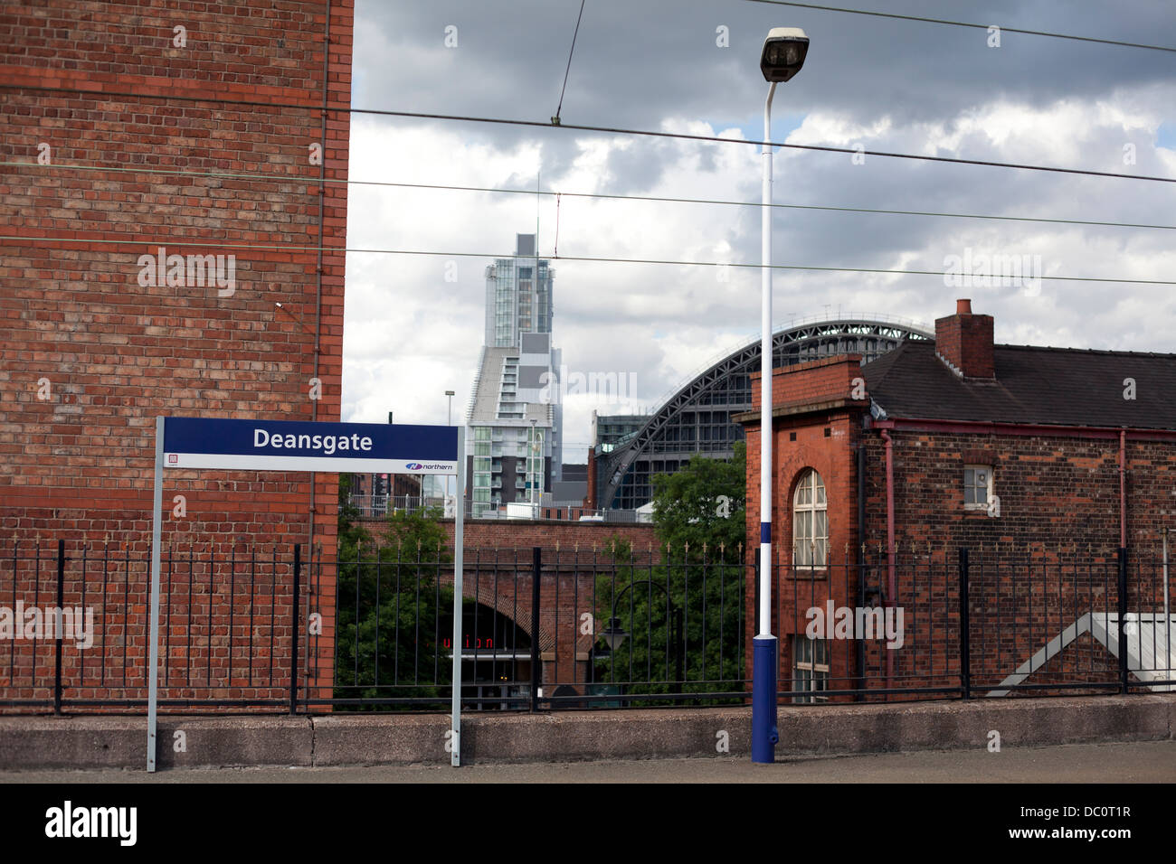 View from Deansgate Train station platform - Stock Image