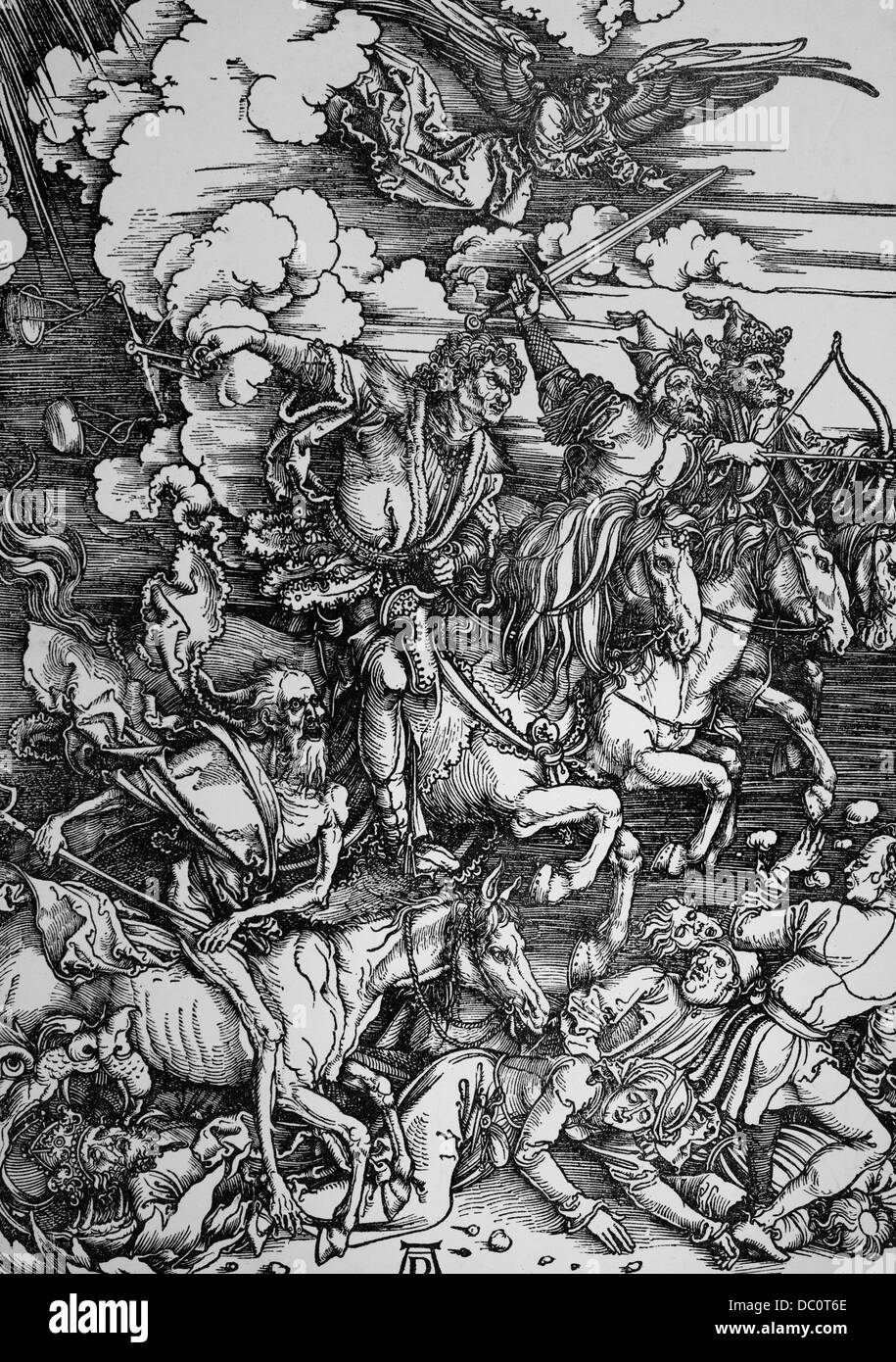 1400s FAMOUS ALBRECHT DURER WOODCUT FOUR HORSEMEN OF