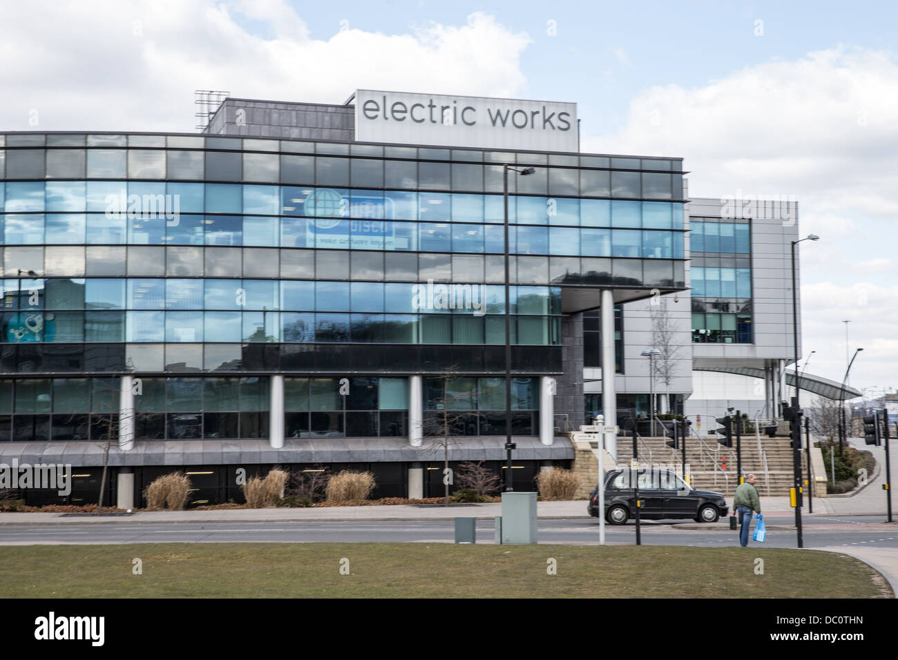 The Electric Works office Building in Sheffield home of Warp Films South Yorkshire UK United Kingdom Europe - Stock Image