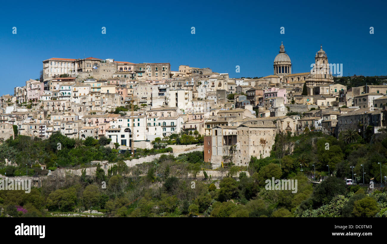 Panorama of Ragusa, Sicily, Italy - Stock Image