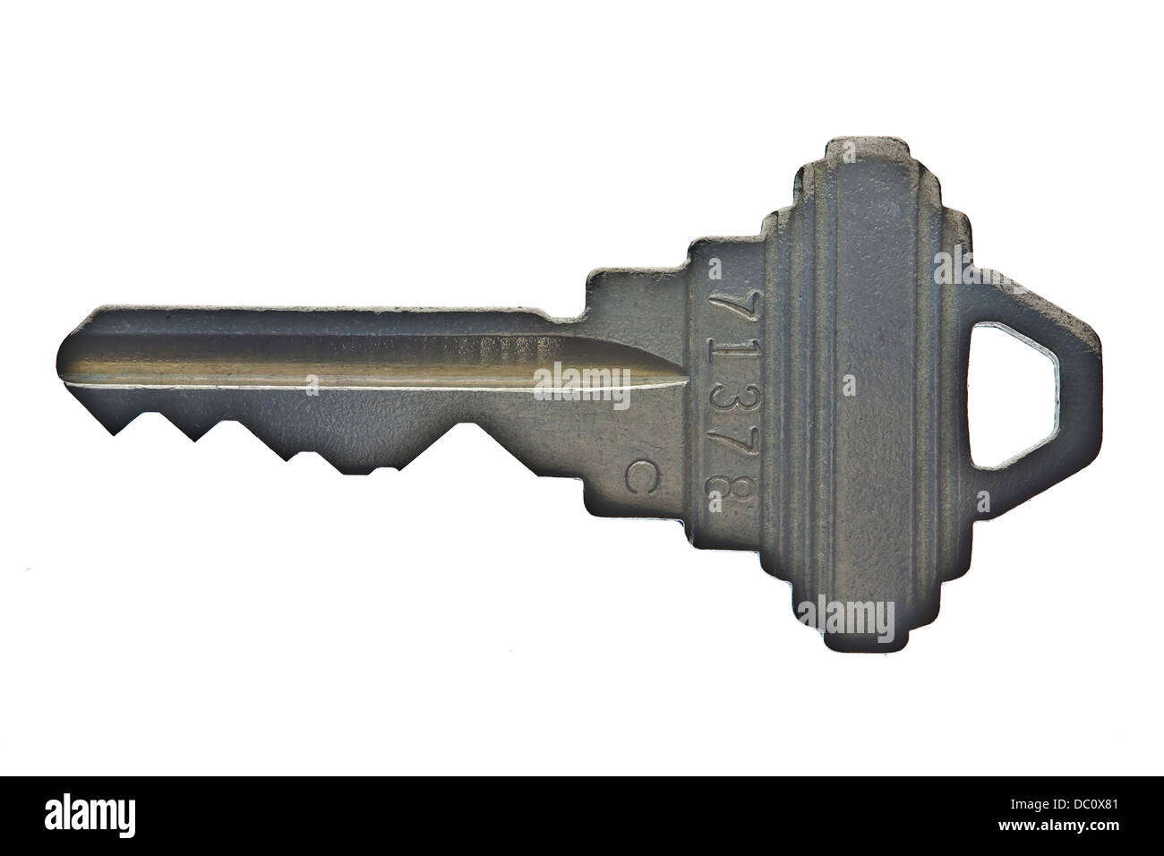 weathered key for house or apartment door lock - Stock Image