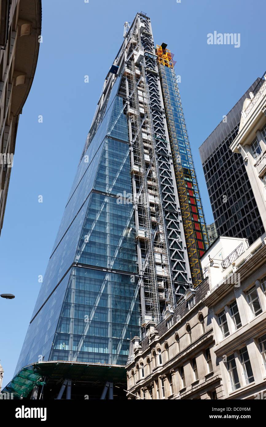 the leadenhall building under construction london england uk Stock Photo