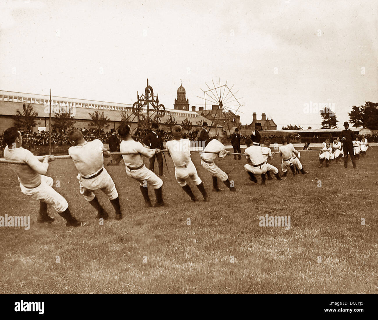 Army Tug of War Victorian period - Stock Image