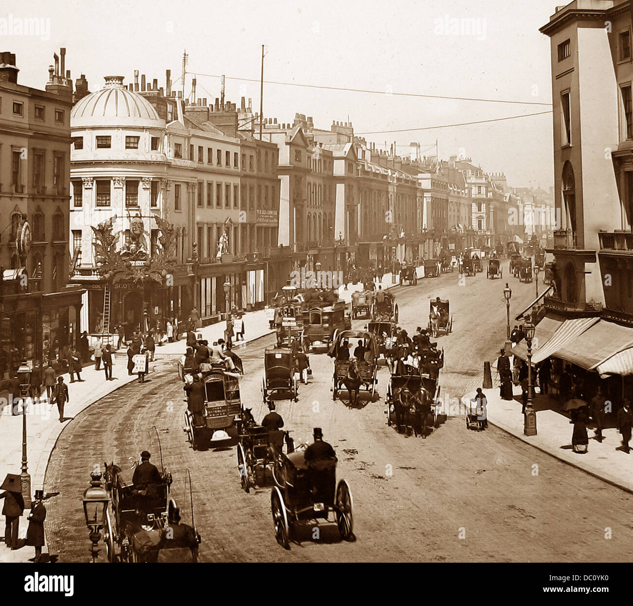 Regent Street London Victorian period - Stock Image