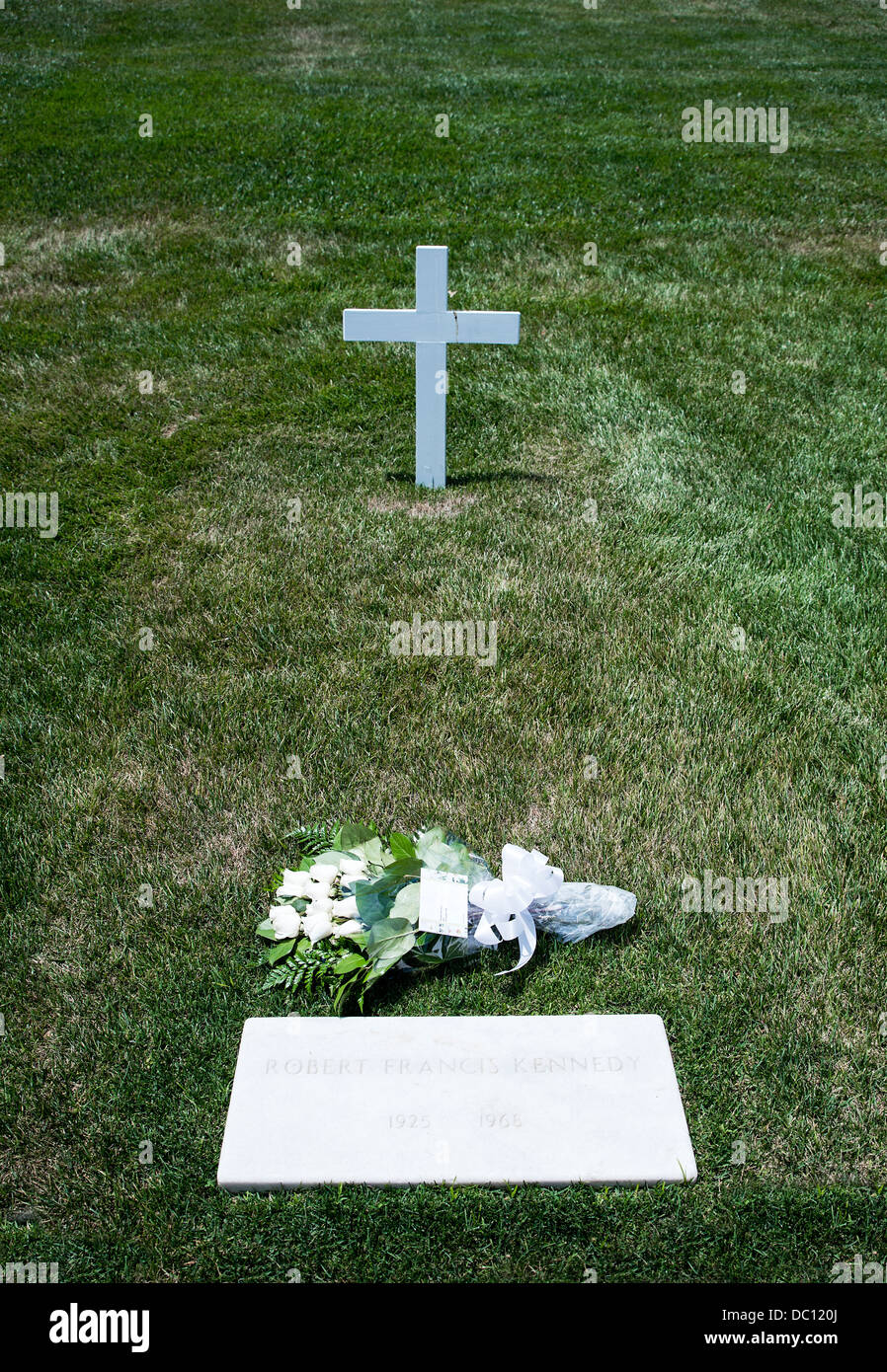 Robert Francis Kennedy Grave, Arlington Cemetery, Virginia, USA - Stock Image