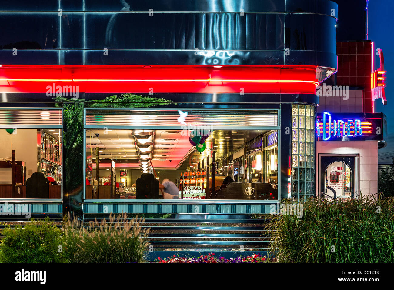 Silver Diner restaurant, chain, Cherry Hill, New Jersey, USA - Stock Image