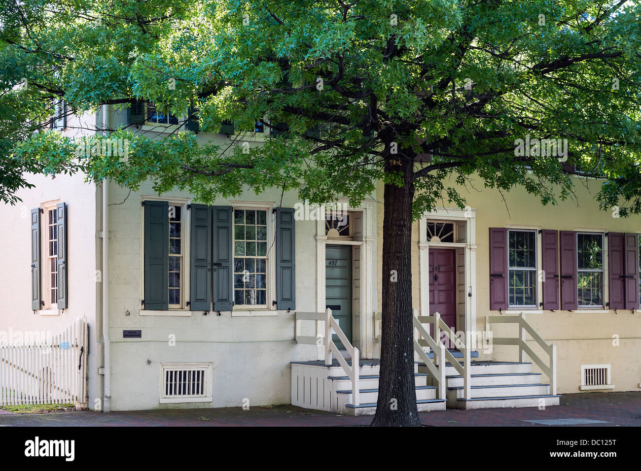 Bith place house of American novilist and writer James Fenimore Cooper, Burlington, New Jersey, USA - Stock Image