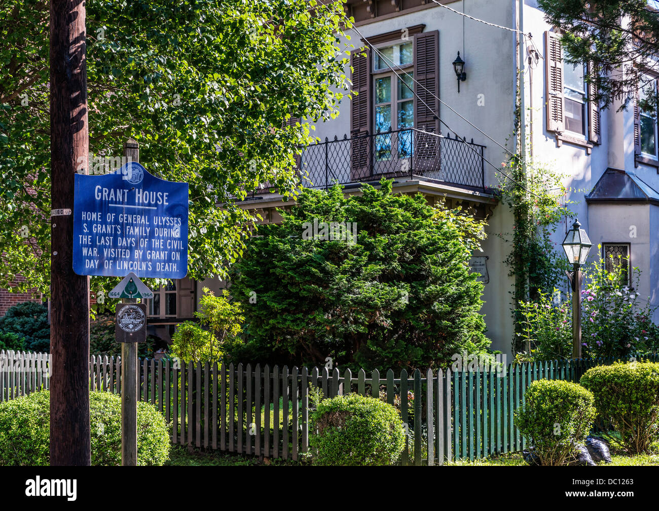 General Ulysses S Grant house during the Cival War, Burlington, New Jersey, USA - Stock Image