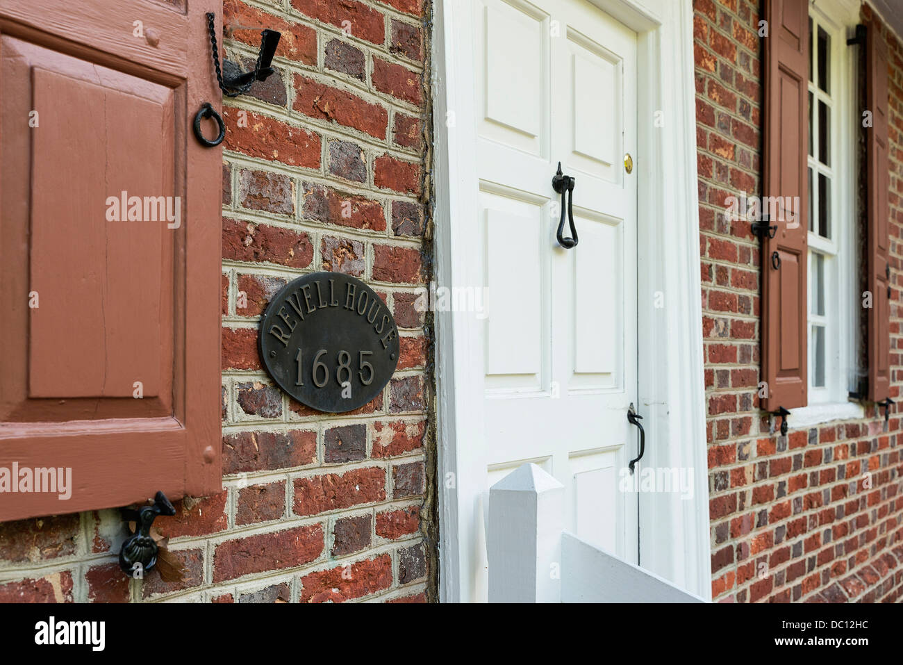 The historic one-room Revell House, the oldest building in Burlington County, Burlington, New Jersey, USA. 1865 - Stock Image
