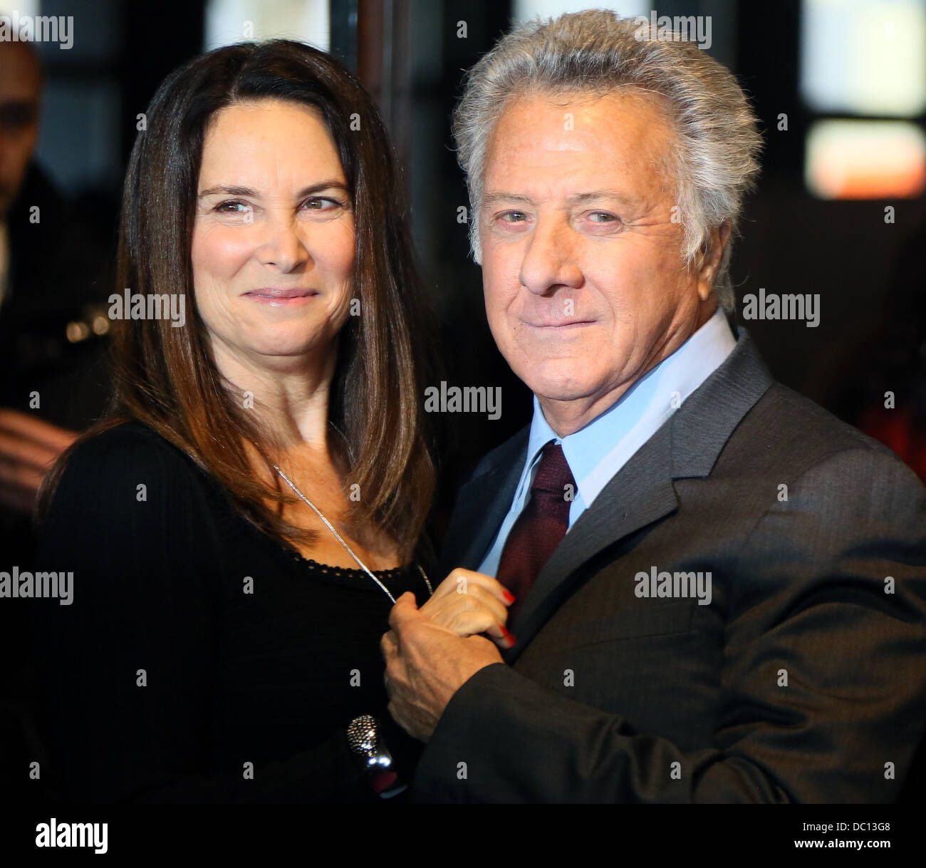US actor and director Dustin Hoffman and his wife Lisa arrive for the premiere of his new movie 'Quartett' at Deutsche Stock Photo
