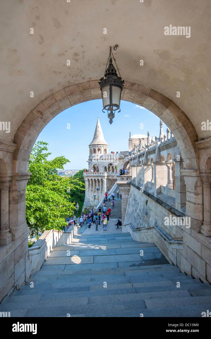 Europe, Hungary, Budapest, Fisherman's Bastion. - Stock Image