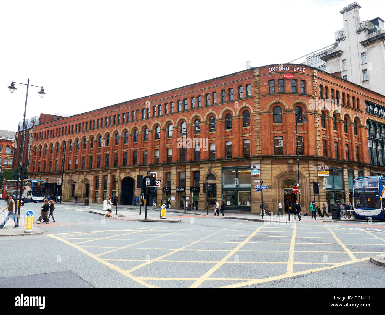 Oxford Place in Manchester UK - Stock Image