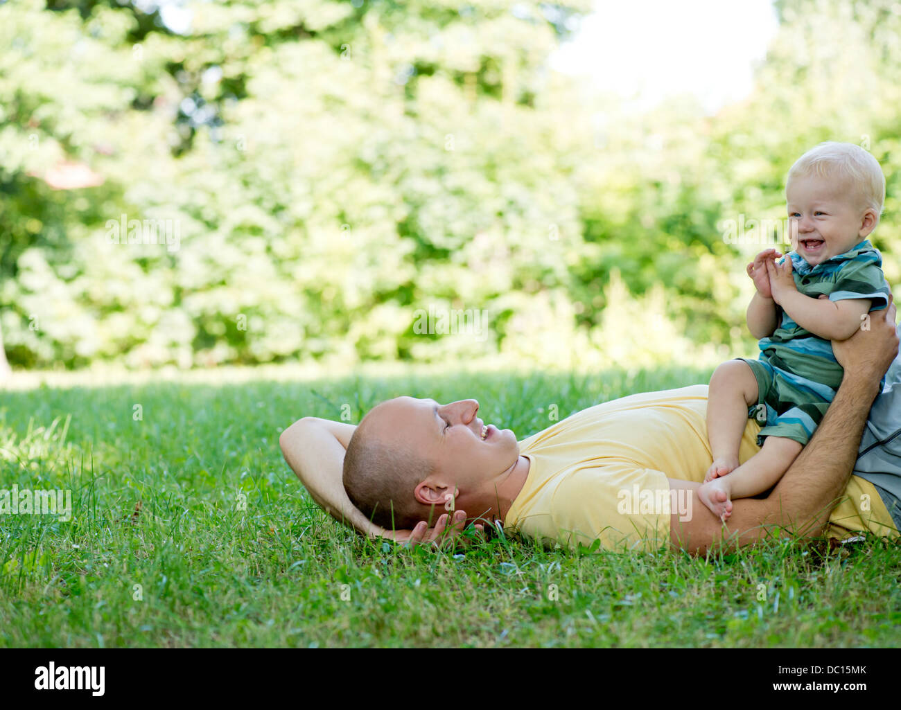 father with son - Stock Image
