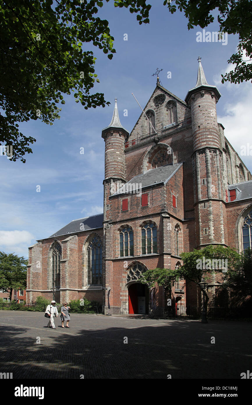 The Pieterskerk.late-Gothic church in Leiden Netherlands.the church of the Pilgrim Fathers. where John Robinson - Stock Image