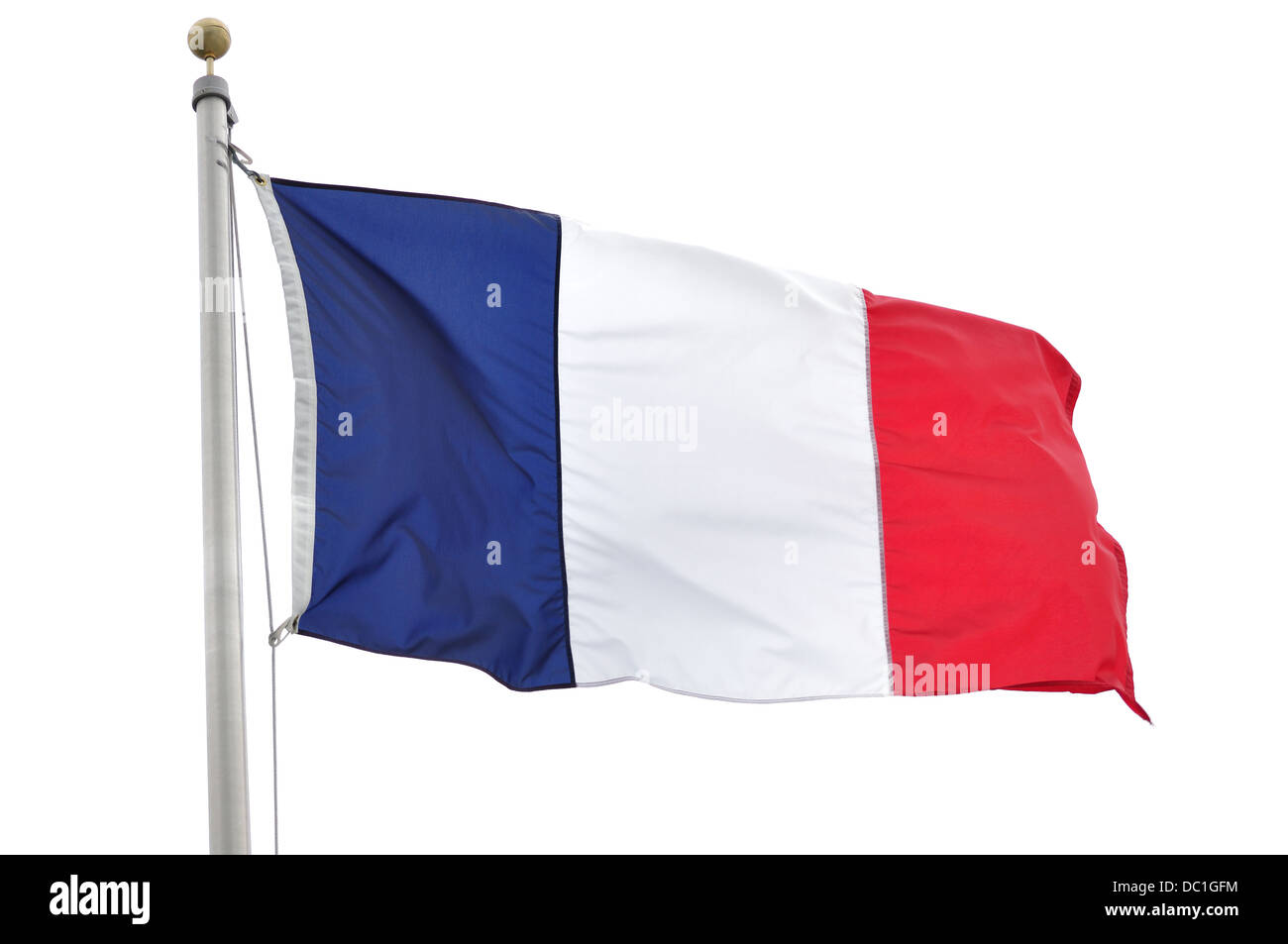 French flag of france - Stock Image