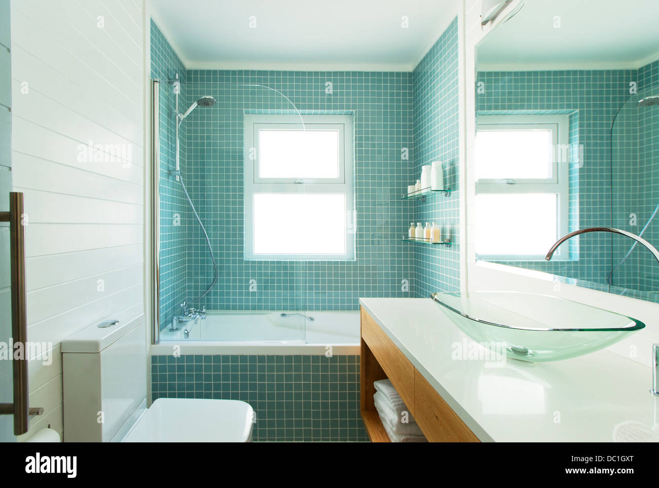 Modern Tile Bathroom Stock Photos & Modern Tile Bathroom Stock ...