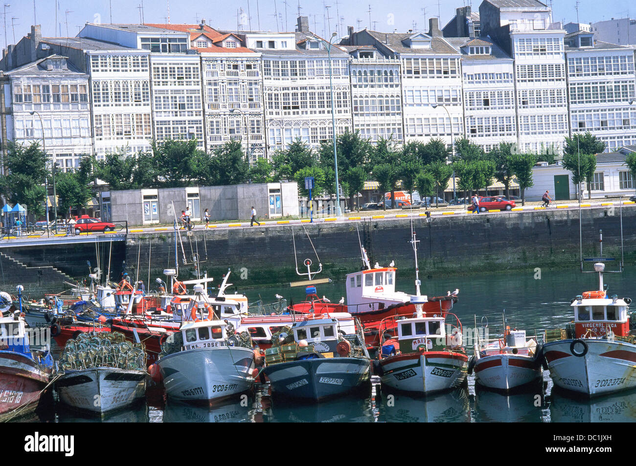 Avenida De La Marina La Coruña Spain Stock Photo Alamy