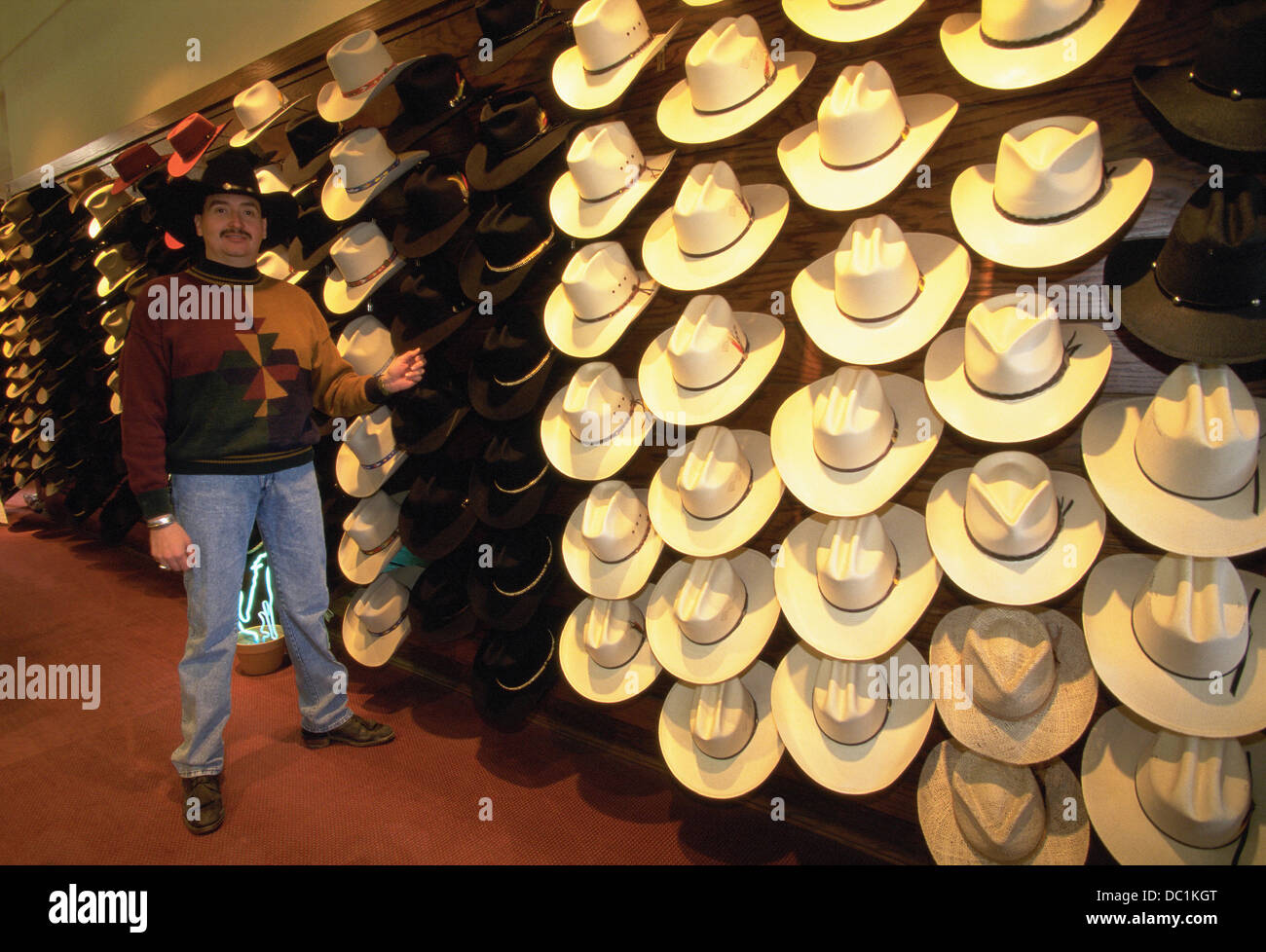 Cowboy hats shop   owner. Taos. New Mexico. USA Stock Photo ... 03ba5221757