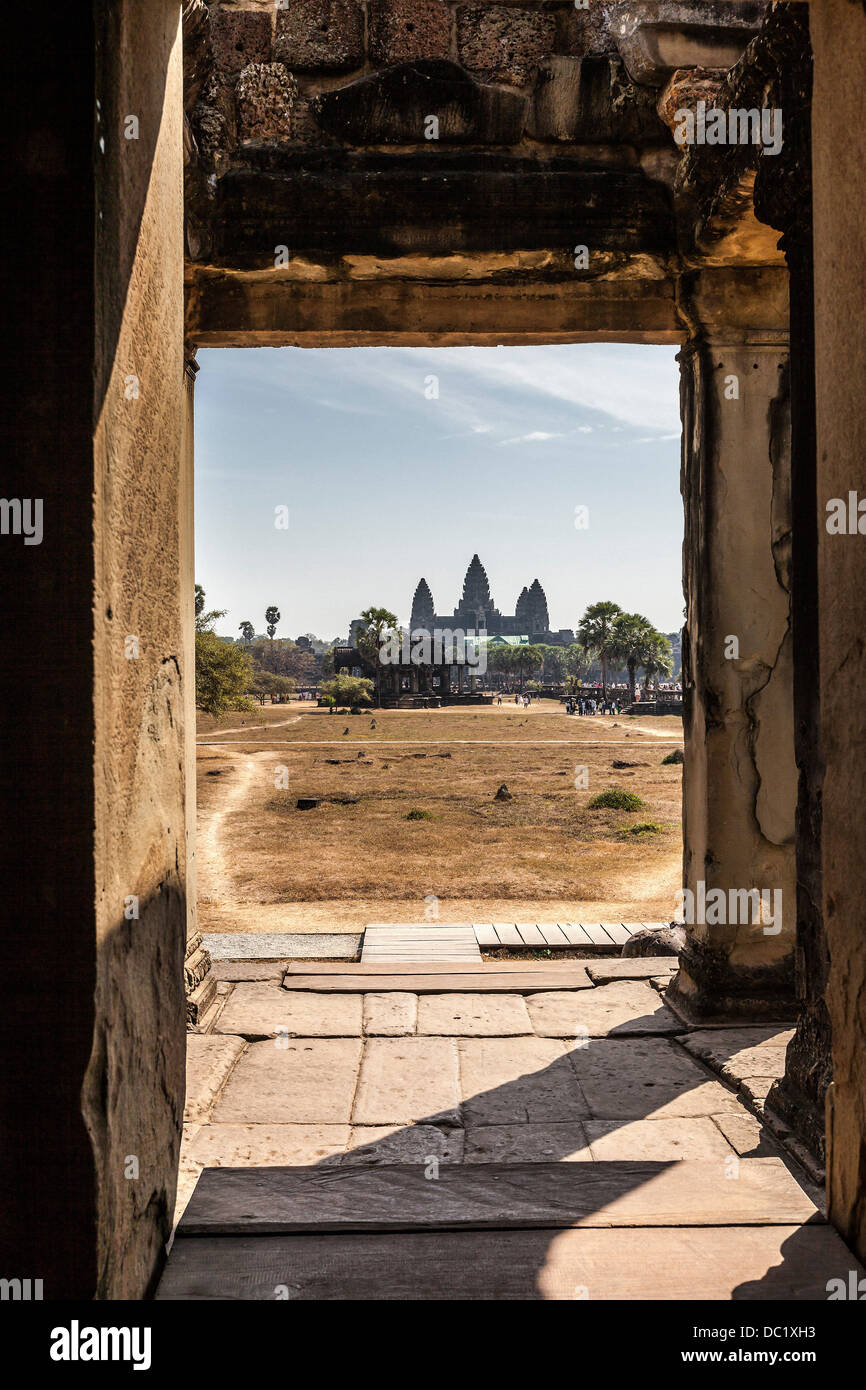 View of Angkor Wat, Siem Reap, Cambodia - Stock Image