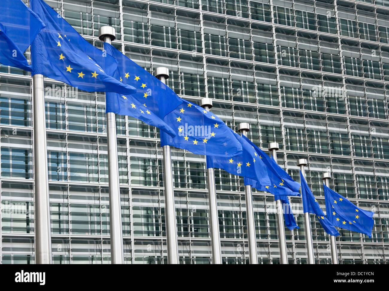 European parliament building, Brussels, Belgium - Stock Image