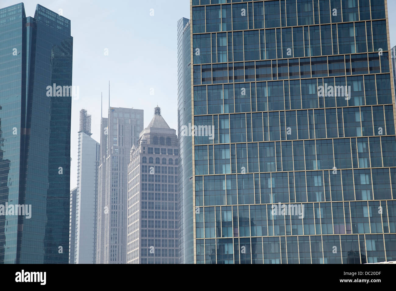 Large skyscrapers in Shanghai, China - Stock Image