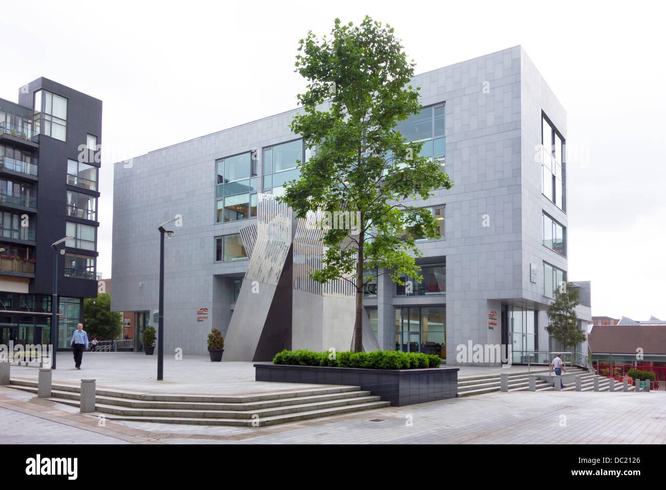 South County Dublin public library building at Tallaght, County Dublin Ireland - Stock Image