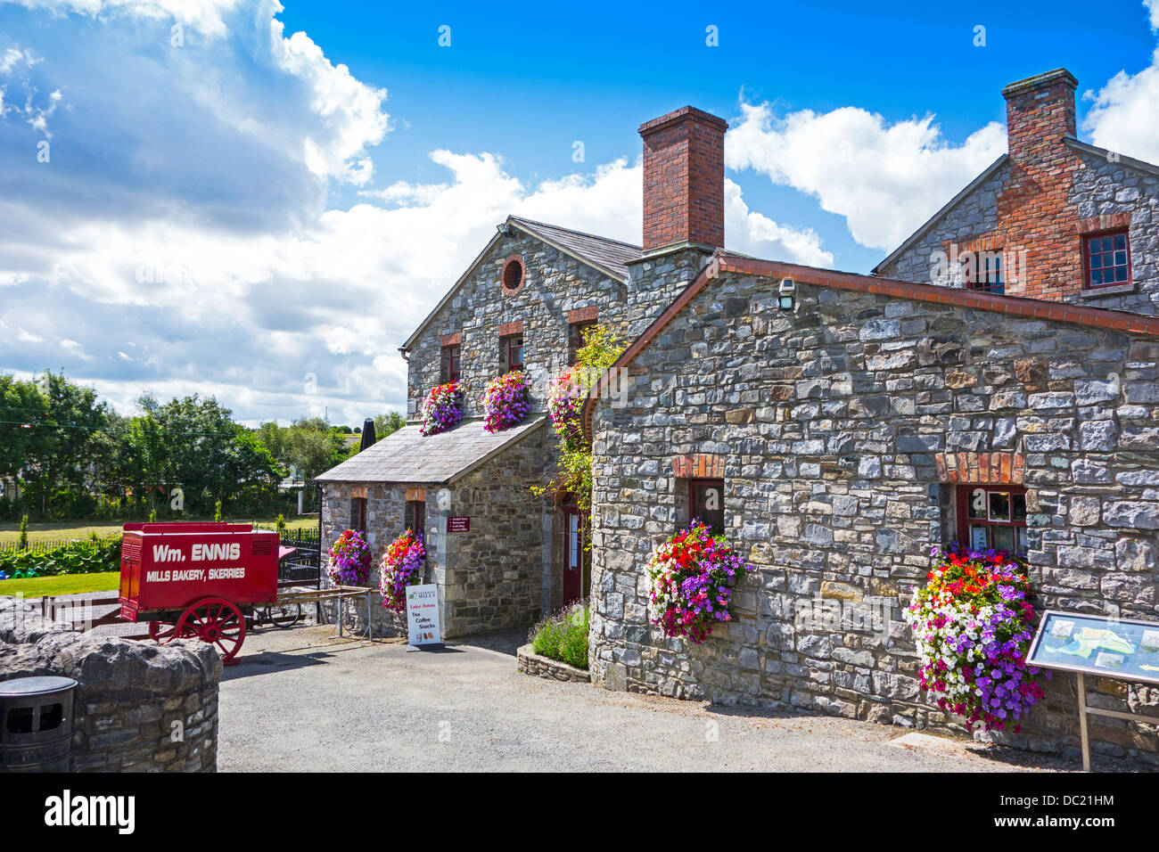 Skerries Mills Museum, county Dublin, Ireland - restored old mill and Bakery - Stock Image