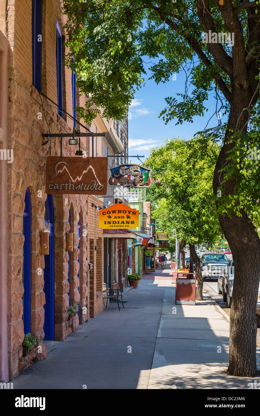 Main Street in downtown Moab, Utah, USA - Stock Image