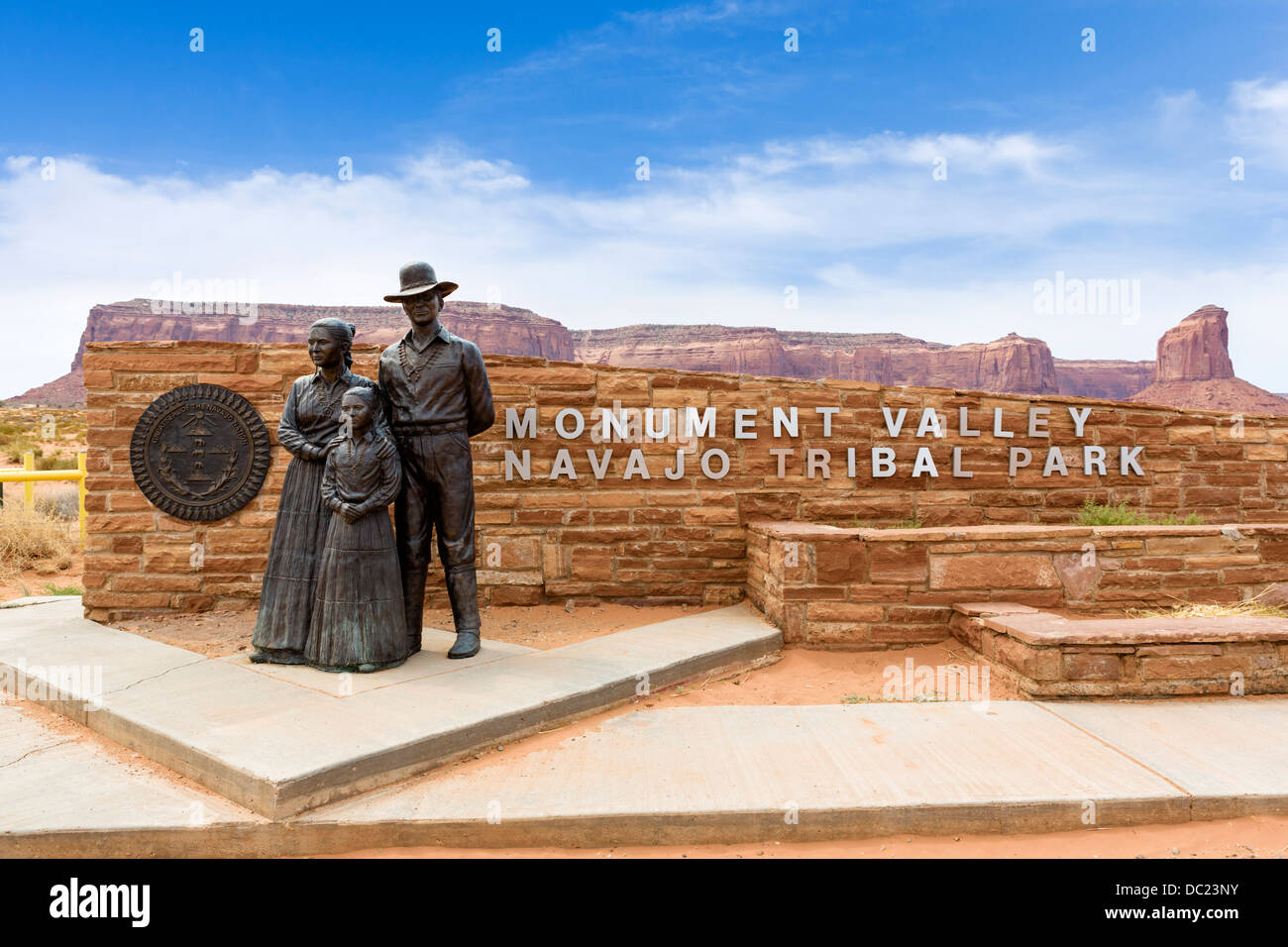 Entrance to Monument Valley Navajo Tribal Park, Monument Valley, Utah, USA - Stock Image