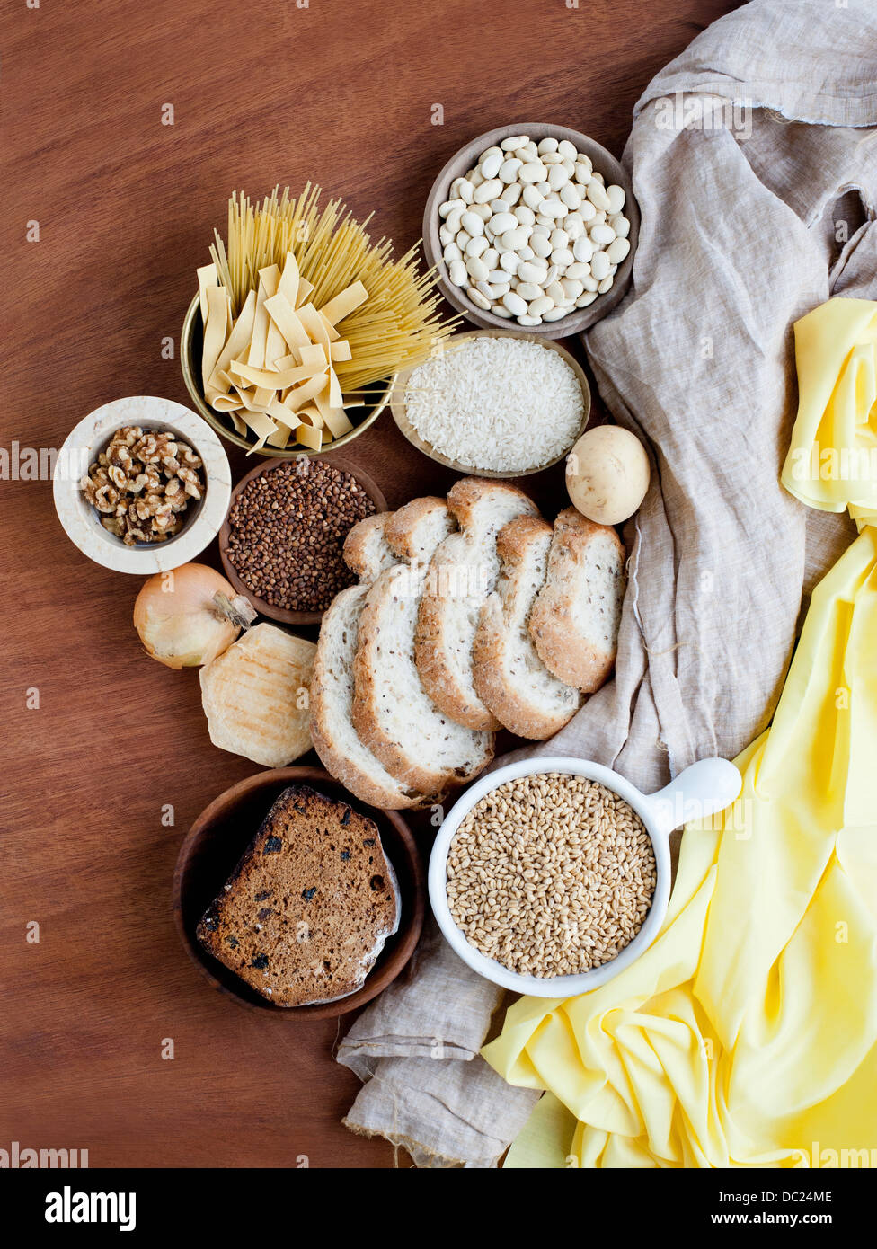 Group of carbohydrates - Stock Image