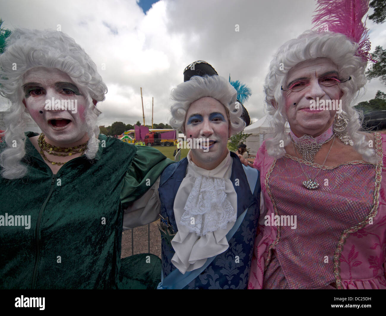 Dressed up as aristocrats from the time of the French Revolution,revelers at Brighton Pride 013 - Stock Image