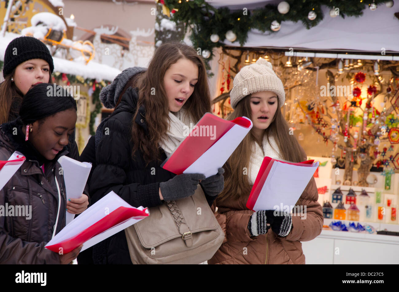 Christmas Caroling.Christmas Caroling Stock Photos Christmas Caroling Stock