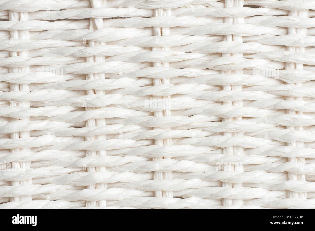 White lace braid - Stock Image