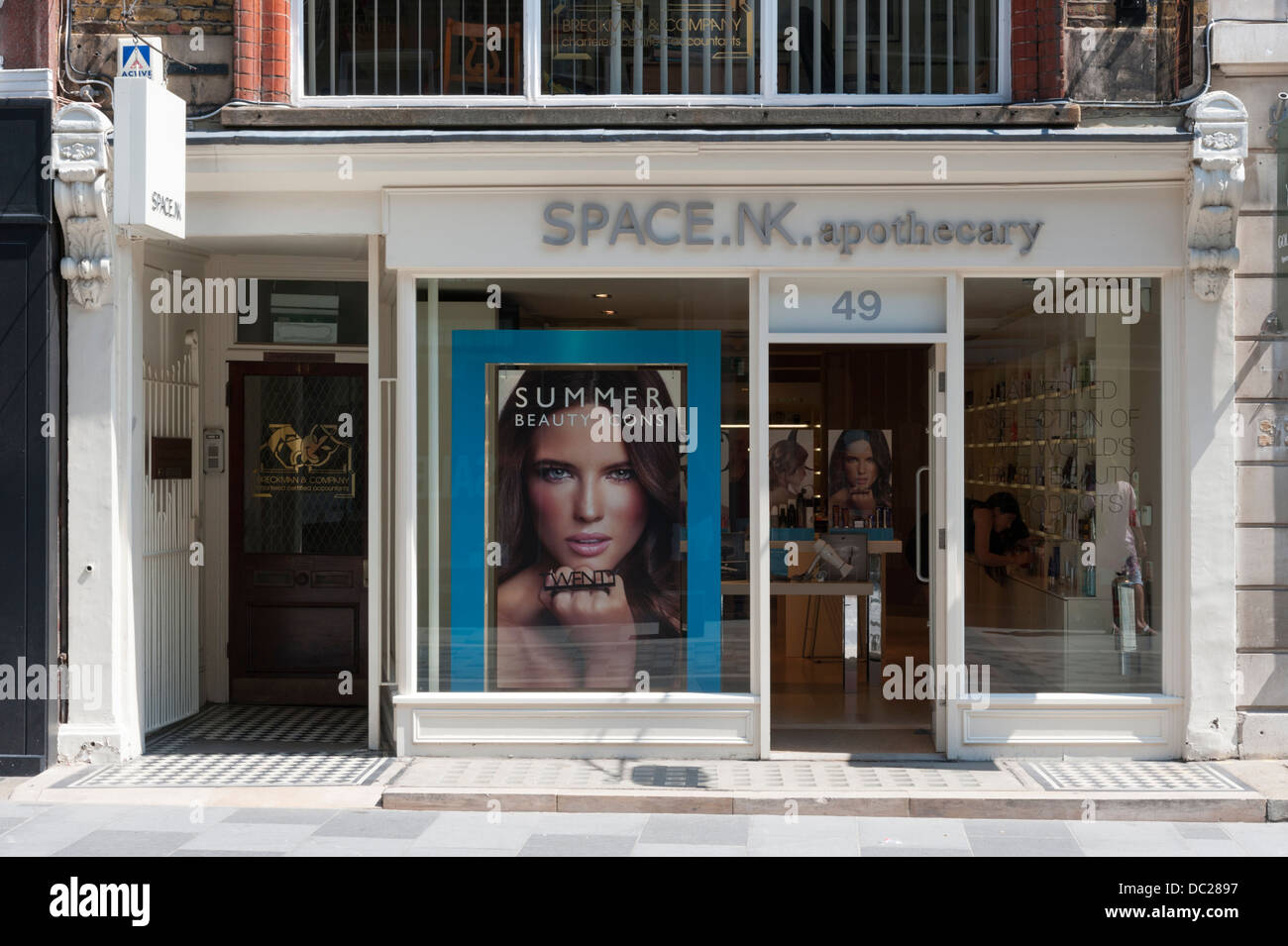 Space,NK apothecary shop South Molton Street London UK - Stock Image