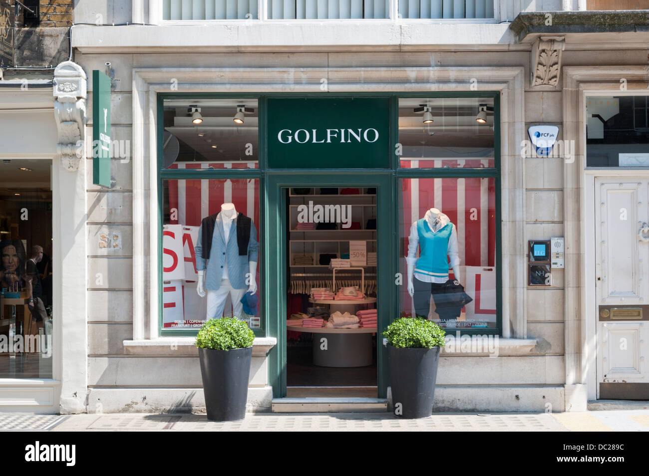 The Golfino clothes shop South Molton Street London UK - Stock Image