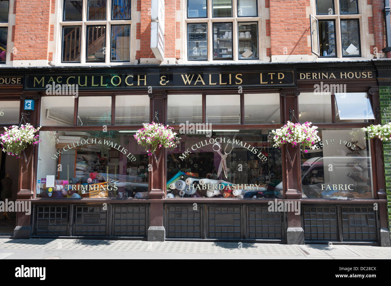 Macculloch and Wallis Ltd haberdashery shop Dering Street London UK - Stock Image