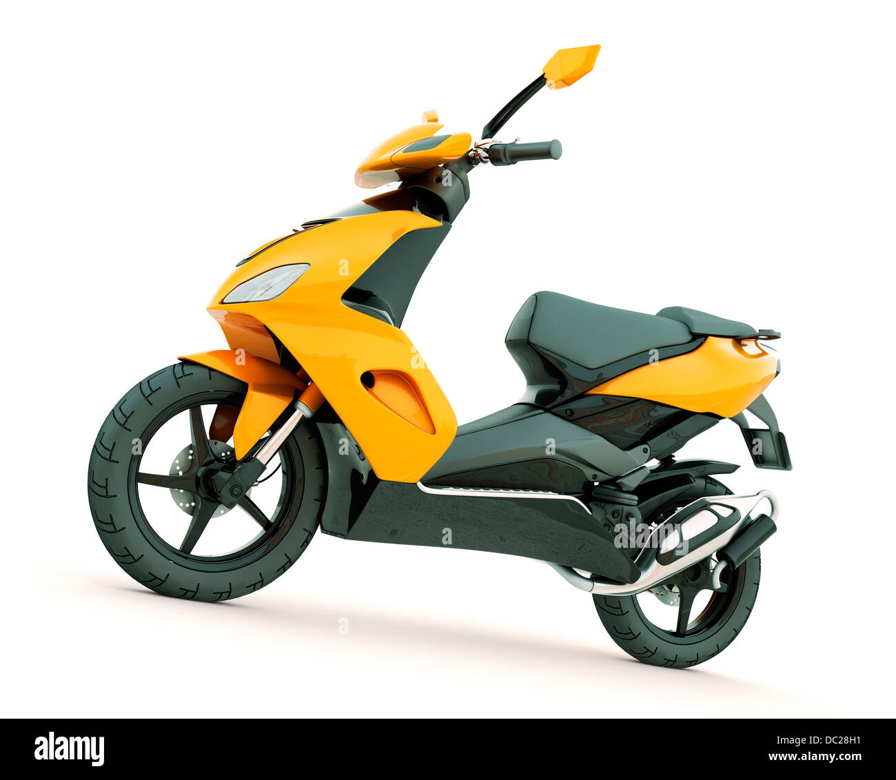 Modern powerful sports scooter on a light background - Stock Image