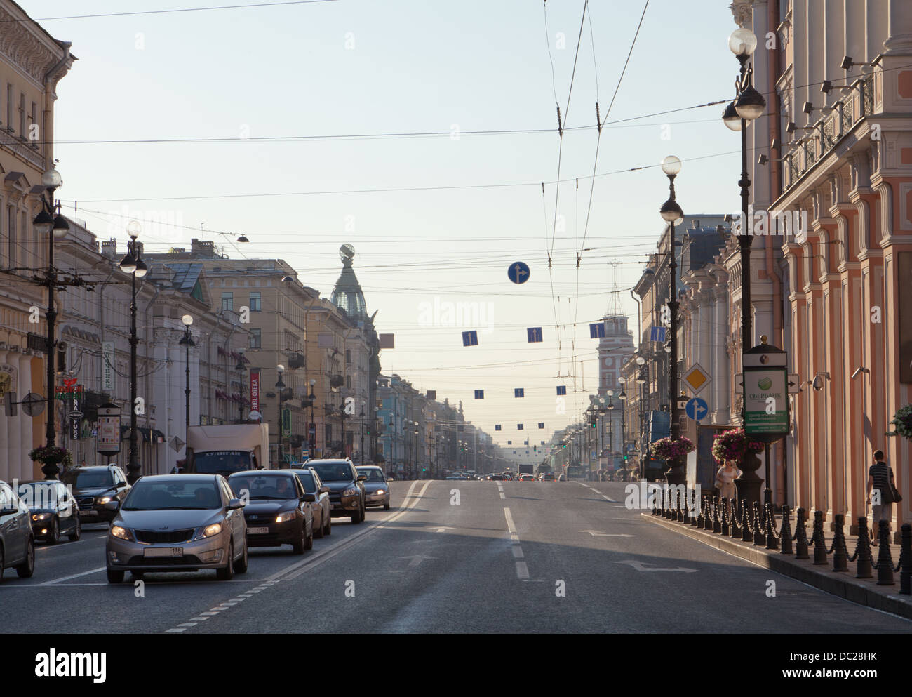 Nevsky Prospect, St. Petersburg, Russia. Stock Photo